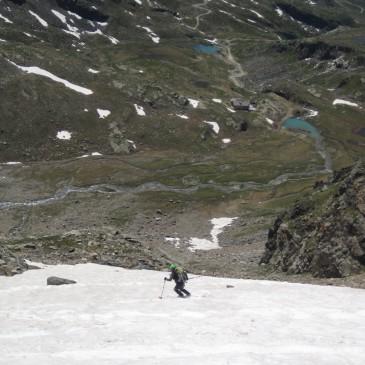 Sci estivo, salita alla Signalkuppe (4554 m slm)